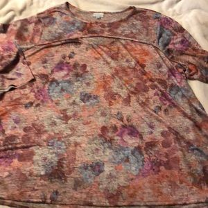 Pink floral tunic top